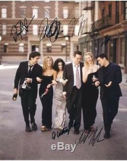 Friends Cast Hand-Signed Autographs TV Television Comedy Show Six Signatures