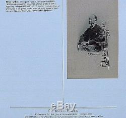 Gabriele D'annunzio Authentic Signed In His Hand Early Postcard Photo Dated 1903