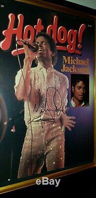 Hand Signed By Michael Jackson With Coa Framed Hotdog Magazine Autographed