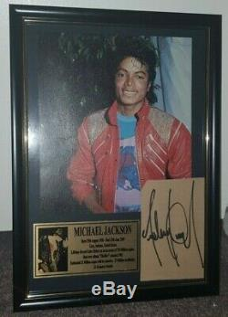 Hand Signed By Michael Jackson With Coa Rare Gold Framed Autographed Display