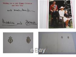Hand Signed Prince Charles & Princess Diana Christmas Card