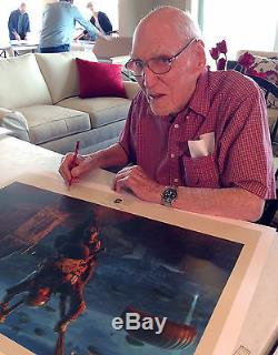 Hand autographed on print by 2 D-day heroes- Band of Brothers vet + C-47 pilot
