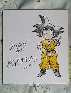 Hand drawn Toriyama Akira Shikishi Card Art Board Dragon Ball autographed 082020