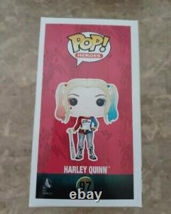 Harley Quinn Funko Pop #97 Hand Signed By Margot Robbie At A Comic Convention