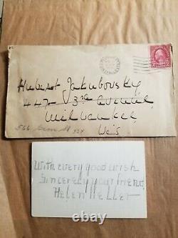 Helen Keller 1931 Hand Written & Signed Note Letter + Original Envelope