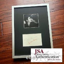 JOHN LENNON & YOKO ONO JSA LOA Hand Signed Autograph Album Page Beatles