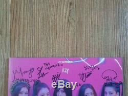 JYP ITZY Promo Album Autographed Hand Signed Message Type A