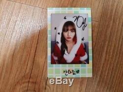 JYP Twice Event Prize Real Polaroid Autographed Hand Signed JIHYO