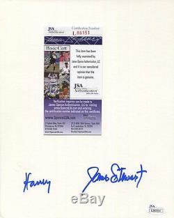 James Stewart Hand Signed Original Harvey Rabbit Drawing Signed Twice Jsa