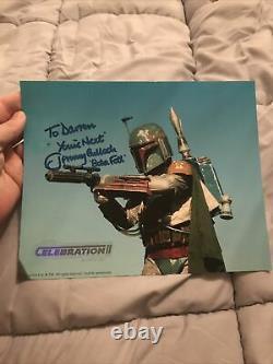 Jeremy Bulloch Star Wars Autograph hand signed photo Celebration