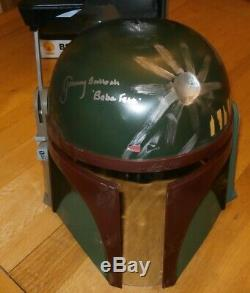 Jeremy Bulloch worn & hand signed Star Wars Boba Fett Helmet COA & photo proof