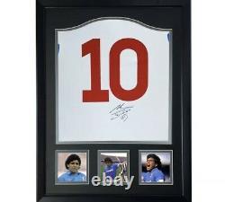 Jersey Napoli Diego Armando Maradona hand signed autograph jersey SASIGNED COA