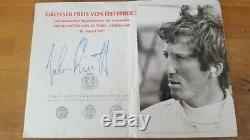Jochen Rindt 1967 signed original Autograph Autogramm handsigned Zeltweg Lotus