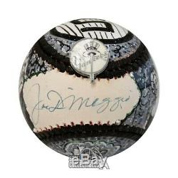 Joe DiMaggio Autographed Fazzino Hand Painted Baseball BAS LOA