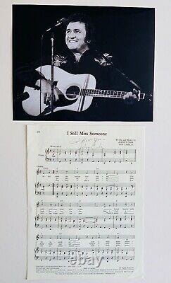 Johnny Cash RARE Hand Signed Sheet Music Autograph w Full COA AFTAL Approved