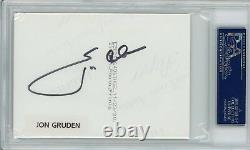 Jon Gruden PSA/DNA Signed Auto Autograph HAND DRAWN Play Photo 1/1 Index Card