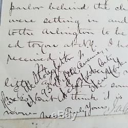 Jsa Loa James A Garfield Hand Signed Letter & Envelope 1877 President Als