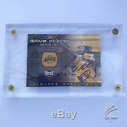 KOBE BRYANT HAND AUTOGRAPHED UD Game Floor 2002-03 Hardcourt #KB-F w COA MINT