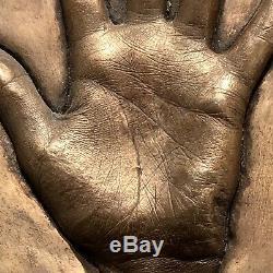 KYLIE MINOGUE Very Rare Bronze Lifecast Hand Print + Autograph, 1 Produced ONLY
