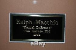 Karate Kid hand signed Ralph Macchio autograph poster & headband framed (Swartz)