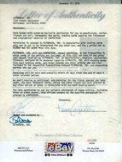 Karen And Richard Carpenter Psa Dna Coa Hand Signed 2 Contracts Autograph