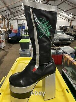 Kiss Peter Criss Catman Autographed Boot Hand Signed