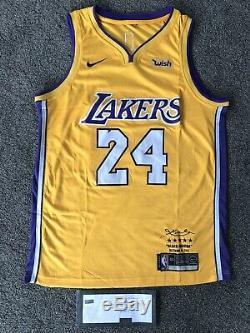 Kobe Bryant Hand Signed Autograph LA Lakers #24 Jersey Panini COA Rare