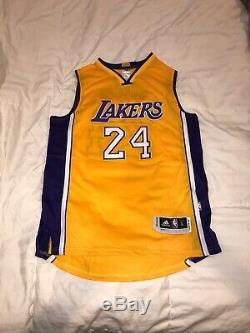 Kobe Bryant Hand Signed Autographed La Lakers Yellow Jersey 24 With Coa