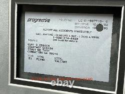 Kurt Cobain Hand Signed Car Insurance Policy Letter Framed JSA COA Autograph