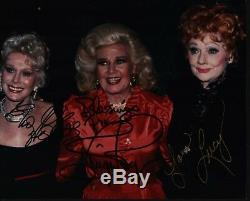 LUCILLE BALL GINGER ROGERS EVA GABOR Hand Signed Autographed 8x10 Photo withCOA