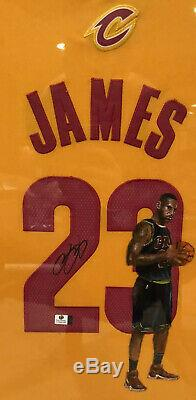 Lebron James Autographed &Hand Painted Jersey RARE! Cleveland Cavaliers Certify