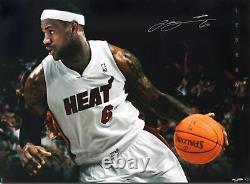 Lebron James Hand Signed HUGE Autograph 35x47 Jumbo Break Thru Image 76/106