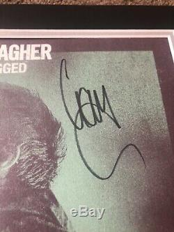 Liam Gallagher MTV Unplugged Hand Signed Vinyl Mounted Display Rare Oasis