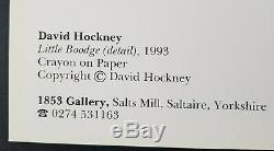 Little Boodge by artist David Hockney Hand Signed Autograph on large print