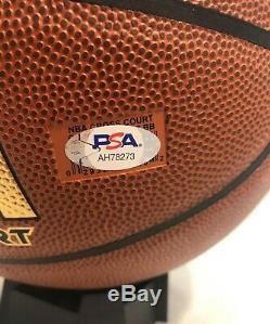 Luka Doncic Autographed Hand Signed Basketball PSA COA