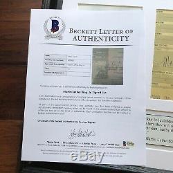 MARTIN LUTHER KING JR BAS Beckett LOA Hand Signed 1961 Speech Autograph