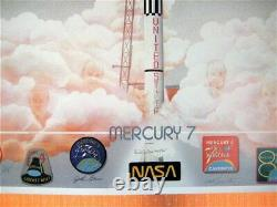 MERCURY 7, Hand Signed, Limited Edition (1500) Lithograph circa 1988, 35x25