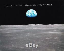 MICHAEL COLLINS APOLLO 11 -EARTHRISE- NASA HAND SIGNED 8 x 10 PHOTO WithCOA MINT