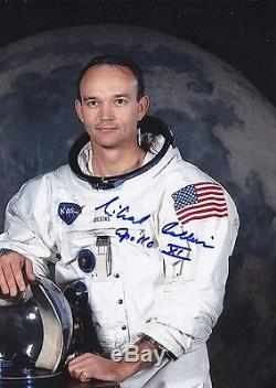 MICHAEL COLLINS APOLLO 11 NASA WSS HAND SIGNED 8 x 10 PHOTO WithCOA MINT CONDITION