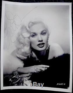 Mamie Van Doren Hand Signed Autograph To Dave Stevens Rocketeer Photo 1950s COA