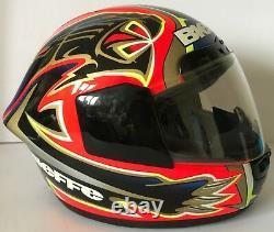 Max Biaggi Hand Signed Bieffe Replica Helmet