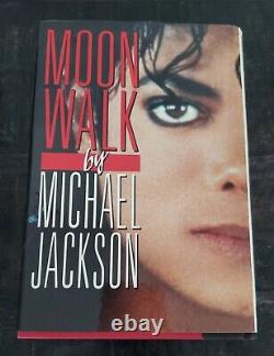 Michael Jackson Autographed Handsigned in Red Rare Moonwalk 1st Edition 1988