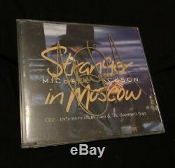 Michael Jackson Hand Signed Autographed Stranger In Moscow CD No Promo