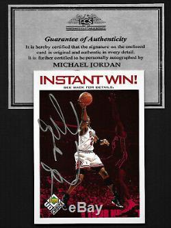Michael Jordan 1998 Upper Deck hand signed Autograph Insert Card withCOA