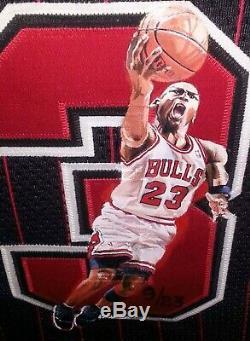 Michael Jordan Autographed Signed Hand Painted Bulls Jersey Upper Deck COA 9/23
