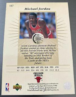 Michael Jordan Chicago Bull NBA UD Classic Auto hand signed Autograph Card withCOA