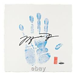 Michael Jordan Signed Autographed Tegata Lithograph Hand Chicago UNC #/123 UDA