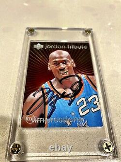 Michael Jordan Upperdeck Tribute Impressions Autograph Card Hand Signed Rare