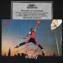 Michael Jordan hand signed 1985 Nike RP 5X3 Promo Autograph Card withCOA RARE