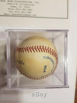 Mickey Mantle Autographed Baseball Hand Signed Mlb Hof Yankees Coa Estate Sale